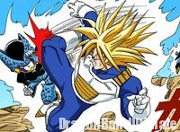 Trunks affrontant un Cell Jr.