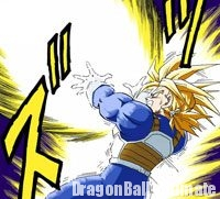 Le Finish Buster de Trunks contre Vegeta