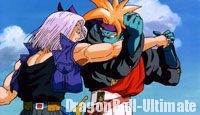 Trunks affrontant Gokua