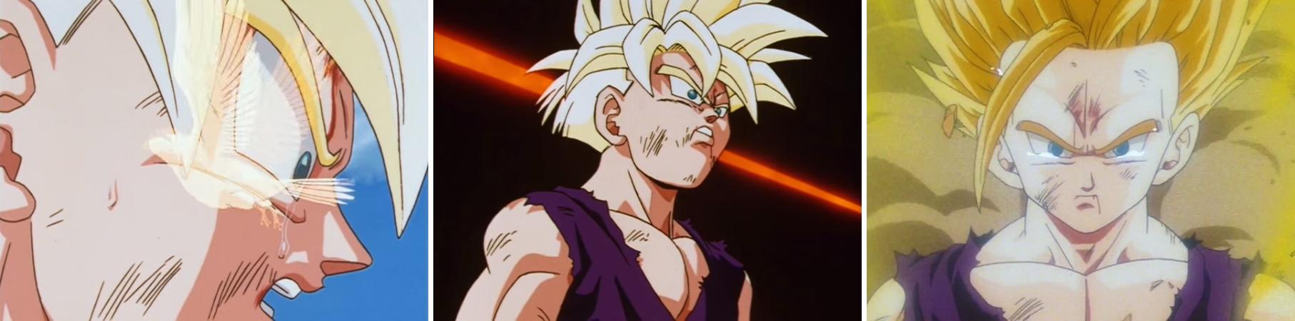Transformation de Son Gohan en Super Saiyan 2 dans l'épisode 184