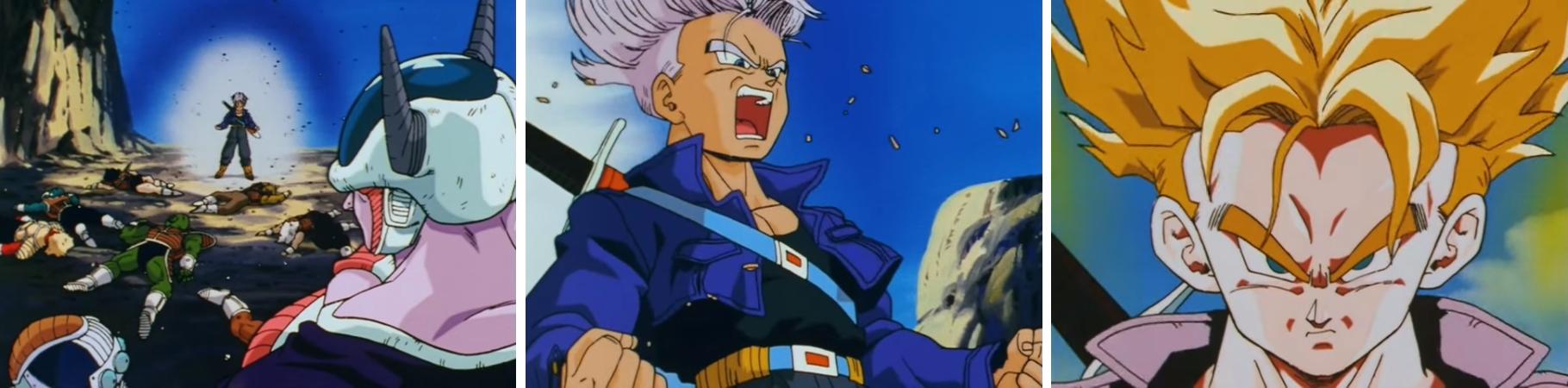 Transformation de Trunks en Super Saiyan dans l'épisode 120 :