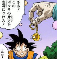 Le vieux Kaiōshin présente les Potaras