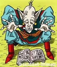 Le vieux Kaiōshin en train de lire une BD
