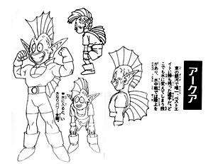 Character Design d'Arqua