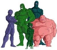 Les guerriers bioniques au complet