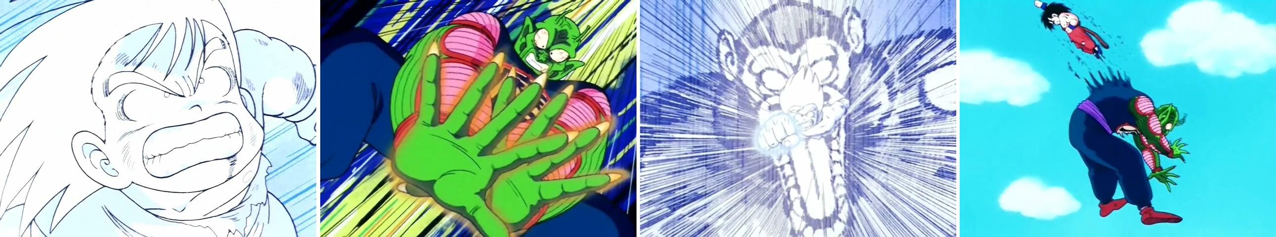 La dernière offensive de Son Gokū contre Piccolo Daimaō dans l'épisode 122 de Dragon Ball :
