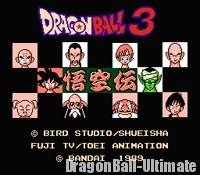 L'écran titre de Dragon Ball 3 : Gokū Den