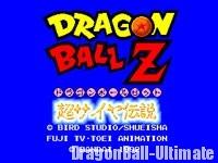 L'écran titre de Super Saiya Densetsu