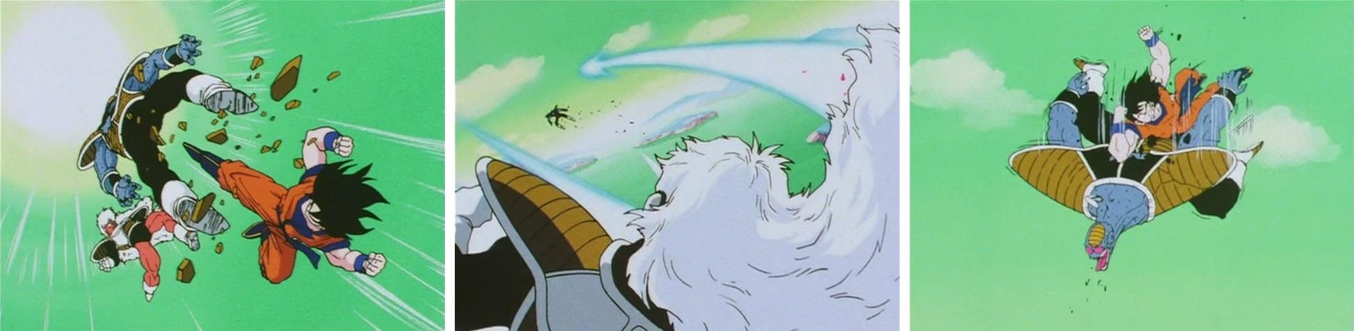 Une scène animée par Masahiro Shimanuki dans l'épisode 068 de Dragon Ball Z