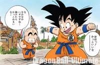 Gokū et Kuririn, ravis de découvrir leur dōgi