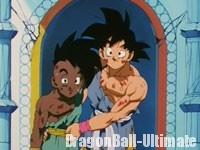 Gokū et Uub après leur entraînement
