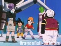 Gokū et les siens remettent les Dragon Balls à Dendé