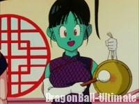 L'arrivée de Gokū annoncée par le gong