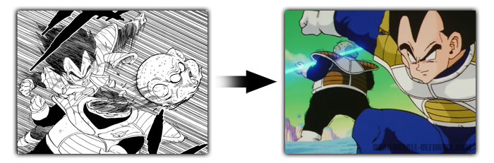Gurd killed by Vegeta