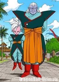 Kaiōshin et Kibito dans le manga couleur