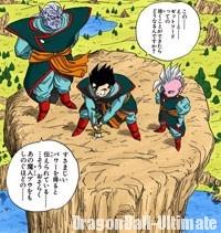 Kaiōshin et Kibito demandent à Gohan de retirer la Z-Sword