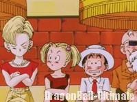 Kuririn, avec sa femme et sa fille