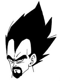 Le roi Vegeta, dessiné par Akira Toriyama
