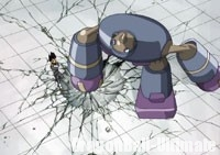 Magetta détruit le sol d'un coup de poing