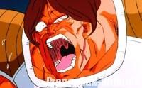 Amond, vaincu par un coup de genou de Gokū, en plein abdomen