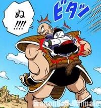 Chaozu s'agripe à Nappa avant de se faire exploser