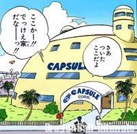 Gokū arrivant à Capsule Corporation