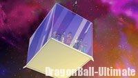 Whis conduisant le cube dans l'espace