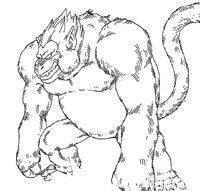 Character Design du singe géant doré