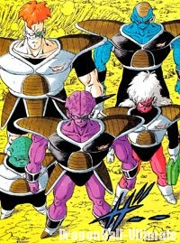 L'escadron spécial Ginyū, dans le manga