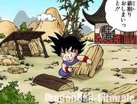 Gokū, se débrouillant seul au mont Paozu