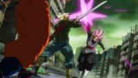 Trunks bloque Black à l'aide de son épée