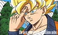 Gokū pose généralement ses doigts sur le front pour se concentrer