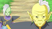 Zamasu écoute son mentor, Gowasu