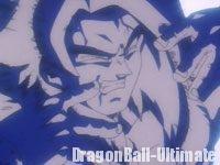 Le Taiyōken de Gokū Super Saiyan 4