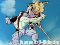 Trunks découpe Freeza avec son épée