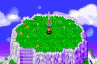 La Z-Sword, sur la planète des Kaiōshins (dans Dragon Ball Z : Buu's Fury)