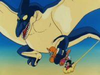 Un Ptéranodon s'attaque à Nam