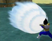 Le Final Crash de Vegeta dans Budokai