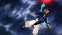 Bidō formant une puissante boule de Ki