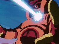 Lood, détruit par une attaque simultanée de Gokū et Pan