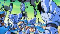 Les robots de combat tirent sur Piccolo