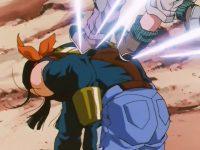 Super N°17 encaisse les attaques des guerriers Z sans broncher