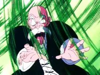 Kamé Sennin utilisant le Mafūba contre Piccolo Daimaō, dans l'anime (Dragon Ball