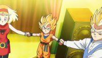 La cérémonie d'invocation du Super Saiyan God, dans la série TV