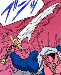 Dābura matérialise son épée
