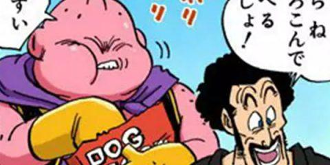Boo, mangeant de la nourriture pour chien