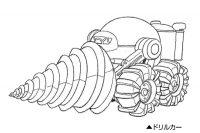 Character Design du camion perforateur