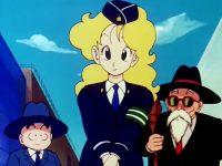 Kuririn et Kamé Sennin rencontrent la policière