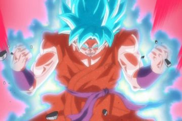 Gokū utilisant le Super Saiyan Blue Kaiōken