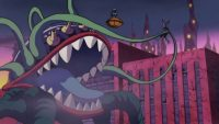 Aragné attrape Dyspo avec ses tentacules